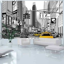 Fototapeta żółte Taksówki Nowy Jork
