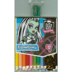 Kredki ołówkowe12 kolorów Bambino w drewnie Monster High