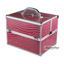 Kufer kosmetyczny A PINK KROKODYL