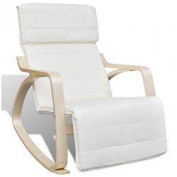 Kremowy regulowany fotel bujany Zapisz się do naszego Newslettera i odbierz voucher 20 PLN na zakupy w VidaXL!