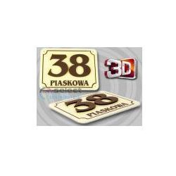 TABLICZKA ADRESOWA, TABLICA NUMER, NUMERY DOM 3D 30x20