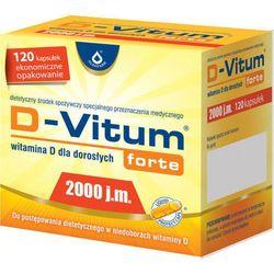 D-VITUM FORTE 2000 j.m witamina D dla dorosłych x 120 kapsułek