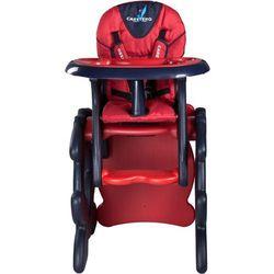 Krzesło do karmienia CARETERO ze stoliczkiem Primus czerwony