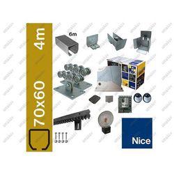 Zestaw do bram przesuwnych NICE 70x60mm, ROBUS400
