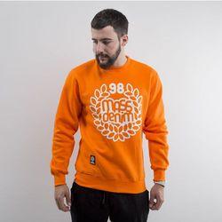Mass Denim bluza Base crewneck orange - orange