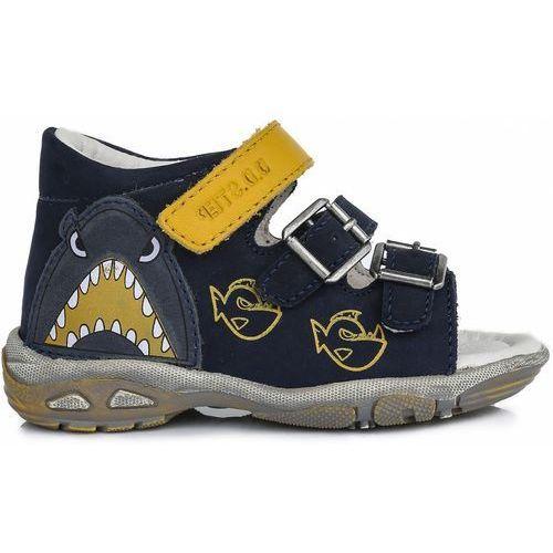 cbd33b56 D-D-step sandały chłopięce z rekinem 22 niebieskie - BEZPŁATNY ODBIÓR:  WROCŁAW!