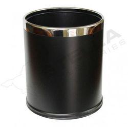 Stella kosz pojemnik na śmieci 9 L, zdejmowana obudowa ze stali w kolorze czarnym - 20.101