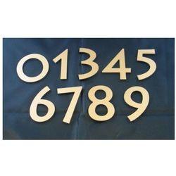 Numer Numery Cyfra na Drzwi złoto drapane wys 7 cm