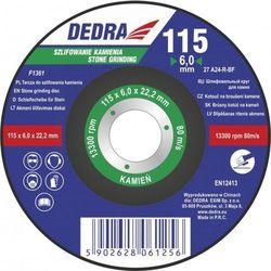 Tarcza szlifierska DEDRA F1361 115 x 6 x 22.2 do kamienia
