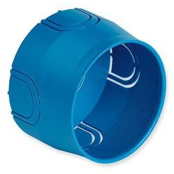 Puszka montażowa do ściany twardej fi 60mm niebieska