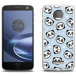 Fantastic Case - Lenovo Moto Z Force - etui na telefon Fantastic Case - panda na niebieskim tle