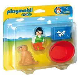 Playmobil 1.2.3 Dziewczynka z psem 6796