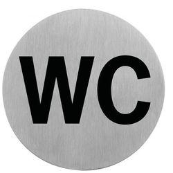 Oznaczenie przyklejane WC ze stali nierdzewnej 7,5 cm. APS 71405