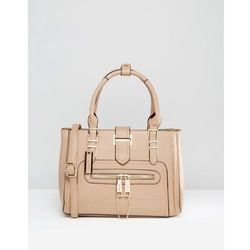 Dune Tote Bag With Gold Hardwear - Beige