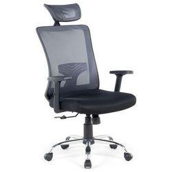 Krzeslo szaro-czarne - biurowe - obrotowe - komputerowe - NOBLE