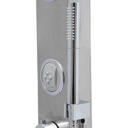 Corsan Snake panel prysznicowy z termostatem stal szczotkowana S-002