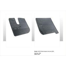 Dywaniki gumowe czarne z kompletem stoperów - Iveco Stralis - szeroka kabina