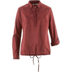 Tunika z długim rękawem bonprix czerwony mahoń