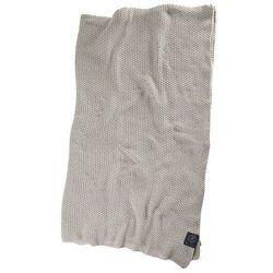 Pled bawełniany Moss Knit 120x180 cm kremowy