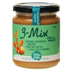Krem orzechowy mix (3 orzechy) BIO masło orzechowe 250g Terrasana