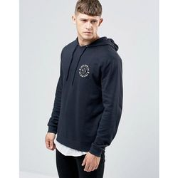 ASOS Hoodie With NYC Chest Print In Navy - Navy