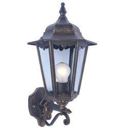 Kinkiet LAMPA ścienna SIENA 1162/BL/GOLD Italux zewnętrzna OPRAWA ogrodowa outdoor antyczny złoty czarny