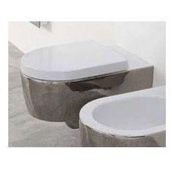 Miska wisząca WC Flaminia Link 56 x 36 x 20 cm, czarna na zewnątrz/biała wewnątrz, zdobienie, goclean 5051/WCG czarny/biały+zdobienie