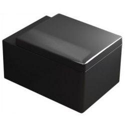HUGO BLACK Miska WC wisząca + deska duroplast wolnoopadająca, czarny połysk