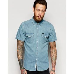 Lee Western Denim Shirt Short Sleeve Slim Fit Light Blue - Blue