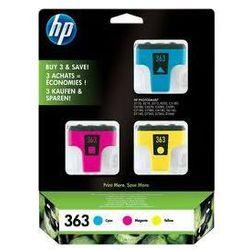 Zestaw trzech HP 363 / CB333EE CMY do drukarek (Oryginalny)