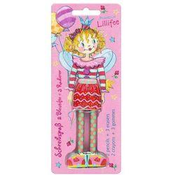 Zestaw ołówków z gumkami, Lillifee