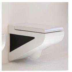 Art Ceram La Fontana miska wc wisząca biało czarna z deską wolnoopadającą LFV00101;50+LFA005