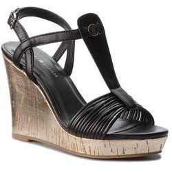 e392af4acf8c3 Sandały TOMMY HILFIGER - Refined Strappy Wedge Sandal FW0FW03023 Black 990
