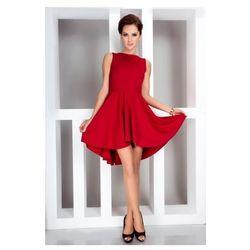 Lacosta - Ekskluzywna sukienka z dłuższym tyłem - Czerwony 33-2