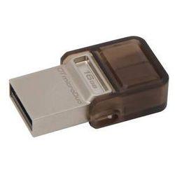Pamięć USB Kingston DataTraveler MicroDuo 16GB OTG (DTDUO/16GB) Brązowy