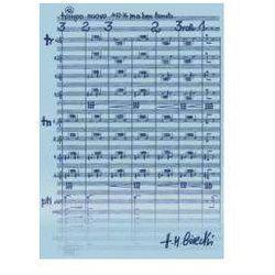 Teczka niebieska z motywem nut - H.M. Górecki