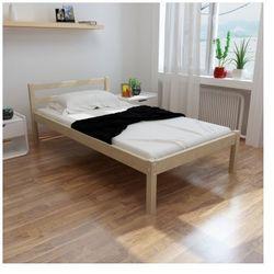 Proste łóżko z sosnowego drewna 200 x 90 cm z materacem Zapisz się do naszego Newslettera i odbierz voucher 20 PLN na zakupy w VidaXL!