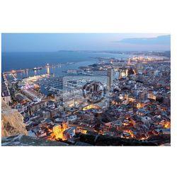 Fototapeta Widok z lotu ptaka Alicante o zmierzchu. Katalonia, Hiszpania