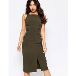 Twin Sister Midi Pinafore Dress - Green