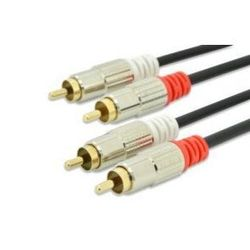 EDNET Kabel połączeniowy Audio Cinch Stereo Typ 2 x RCA/2 x RCA M/M czarny 10m