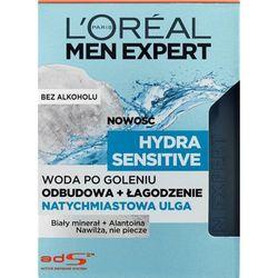 L'Oréal Paris, Men Expert Hydra Sensitive, Woda po goleniu natychmiastowa ulga, 100 ml Darmowa dostawa do sklepów SMYK