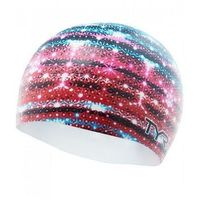 TYR CZEPEK GLITZ GRAPHIC CAP SILICONE CAP RED-WHITE-MULTI