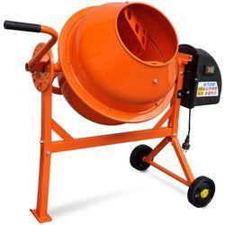 vidaXL Elektryczna betoniarka 63 L 220 W z pomarańczowej stali Darmowa wysyłka i zwroty