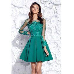 496459a634 Rozkloszowana sukienka wieczorowa Sintia - zielona Darmowa dostawa