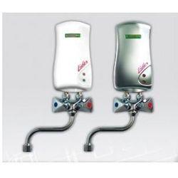 ELEKTROMET LIDER Umywalkowy przepływowy ogrzewacz wody z baterią L-150mm 4,5kW, bezciśnieniowy, biały 251-15-451