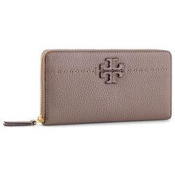 07fa019475541 Duży Portfel Damski TORY BURCH - Mcgraw Continental Wallet 41847 Silver  Maple 963