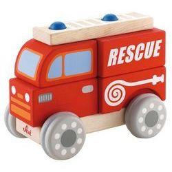 Sevi, Samochód drewniany do zbudowania z klocków, Straż pożarna Darmowa dostawa do sklepów SMYK