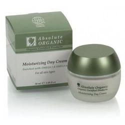 Absolute Organic organiczny nawilżający krem na dzień z kwasem hialuronowym i Omega 3-6 do każdej cery 50 ml