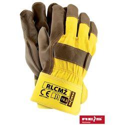 promocja! Rękawice robocze wzmacniane skórą licową RLCMŻ rozmiar 10