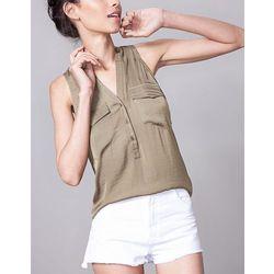 Koszula bezrękawnik Khaki M